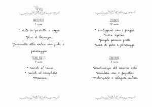 camimia menu